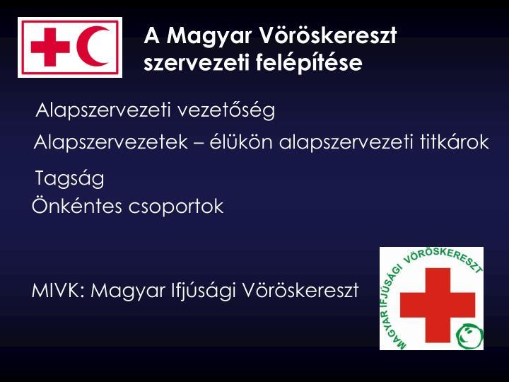 A Magyar Vöröskereszt szervezeti felépítése