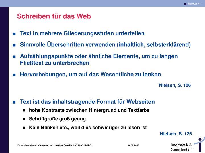 Schreiben für das Web