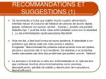 recommandations et suggestions 1