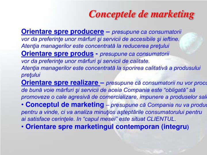 Conceptele de marketing