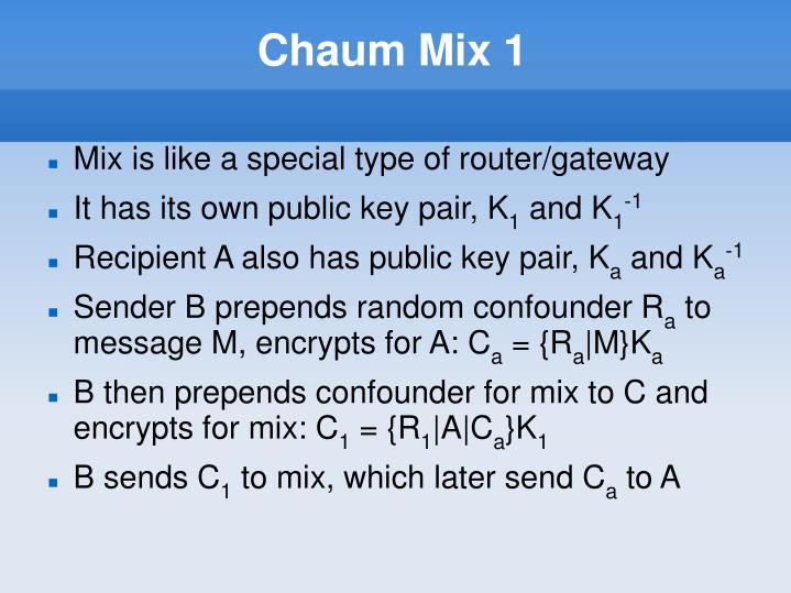 Chaum Mix 1