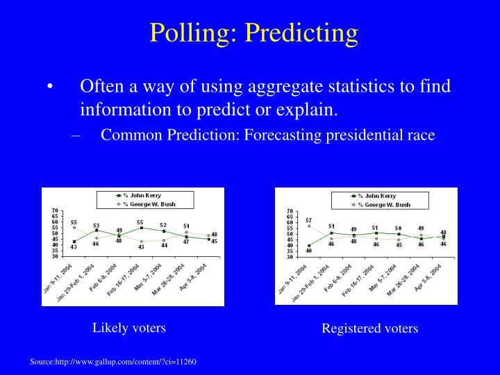Polling: Predicting