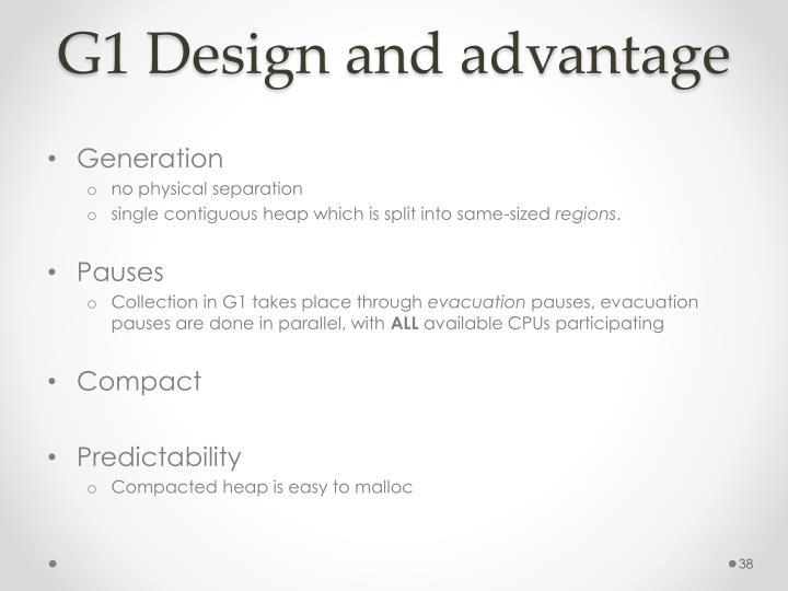 G1 Design and advantage