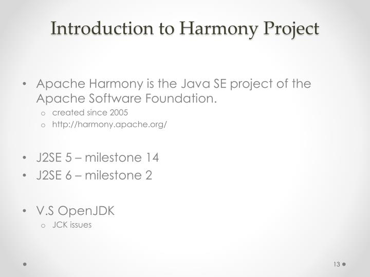 Introduction to Harmony Project