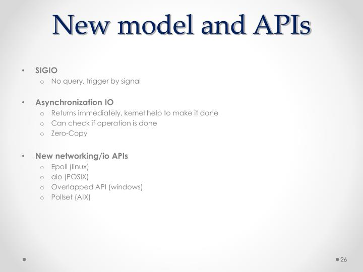 New model and APIs