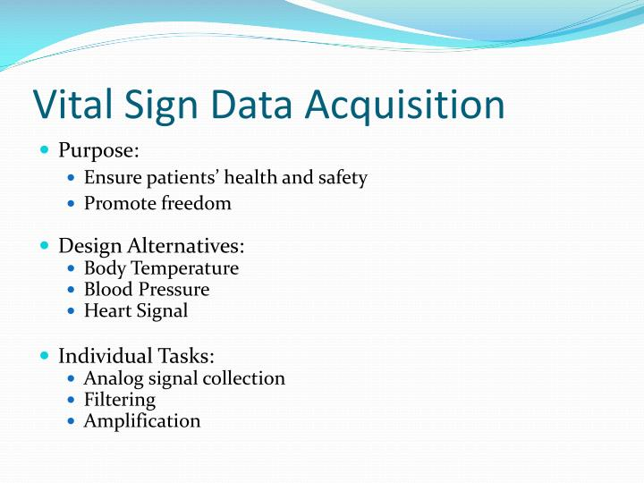 Vital Sign Data Acquisition