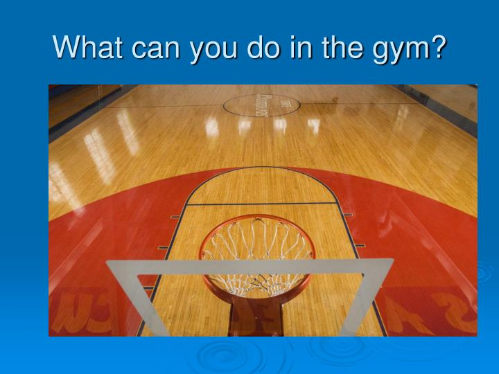 What can you do in the gym?