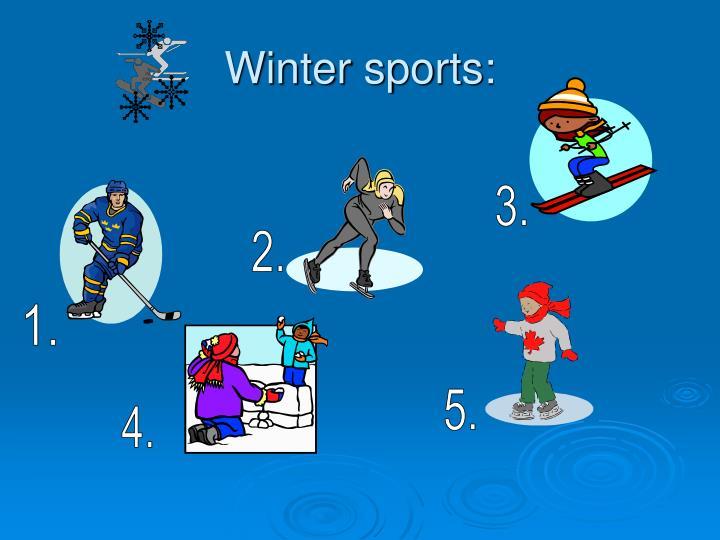 Winter sports: