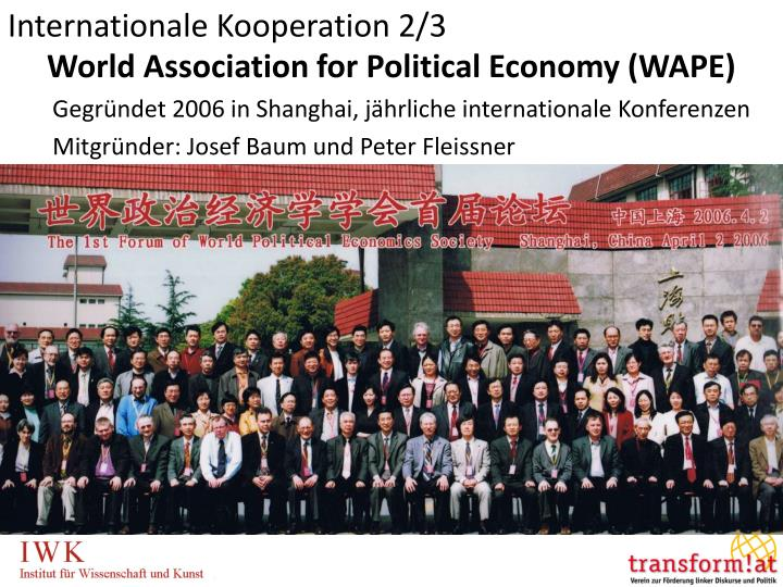 Internationale Kooperation 2/3