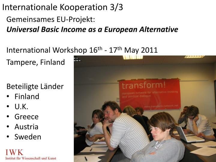 Internationale Kooperation 3/3