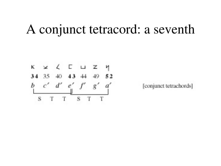 A conjunct tetracord: a seventh
