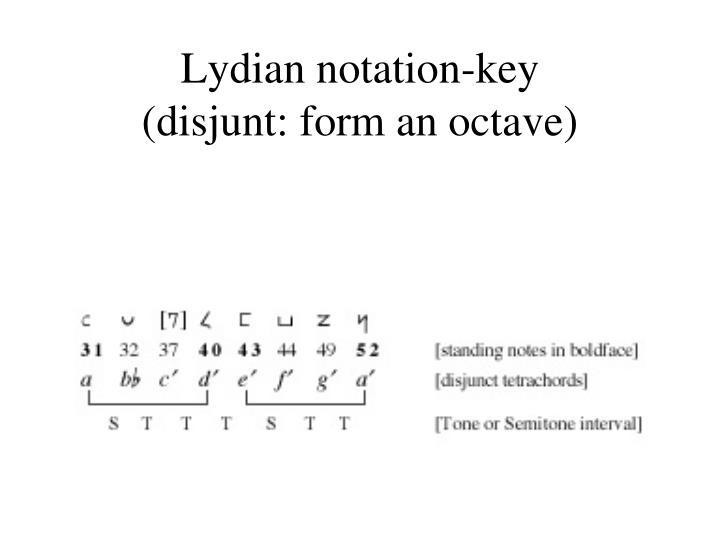 Lydian notation-key