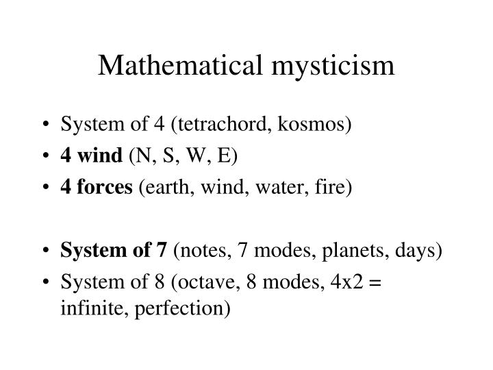 Mathematical mysticism