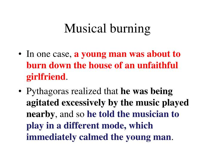 Musical burning