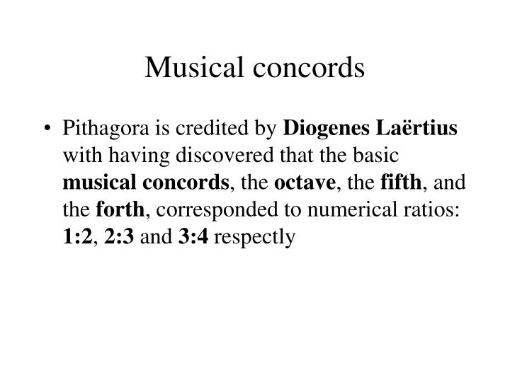 Musical concords