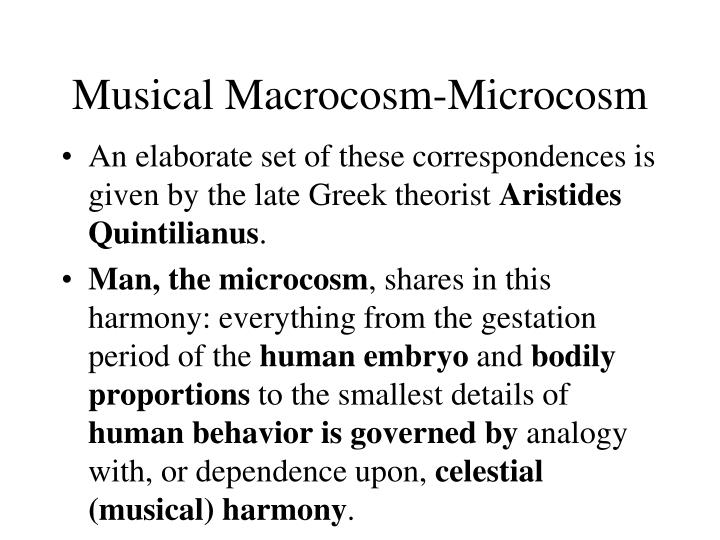 Musical Macrocosm-Microcosm