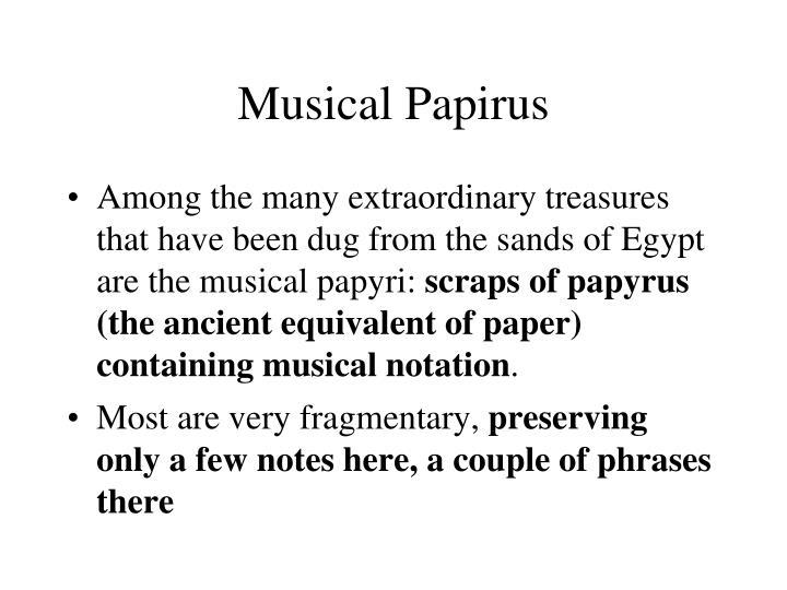 Musical Papirus