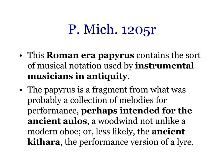 P. Mich. 1205r
