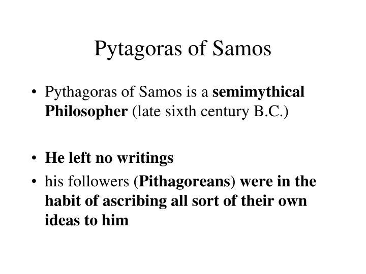 Pytagoras of Samos