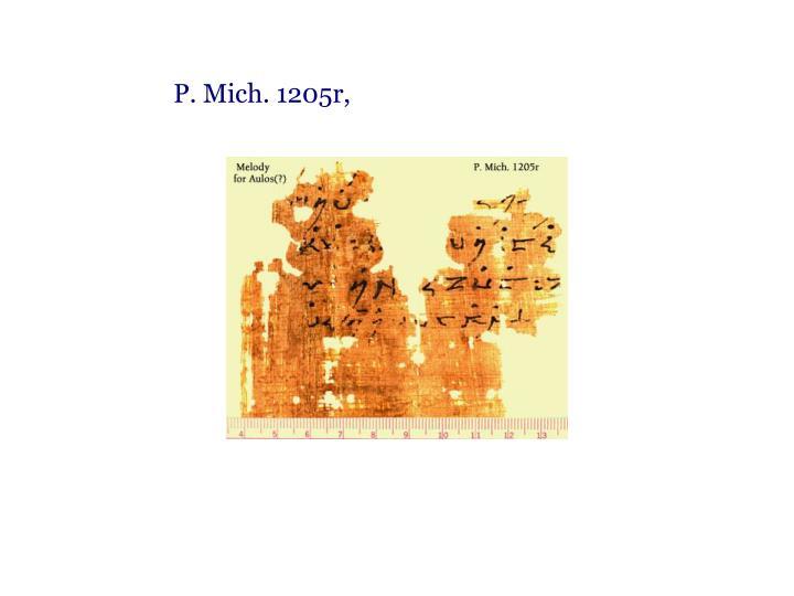 P. Mich. 1205r,