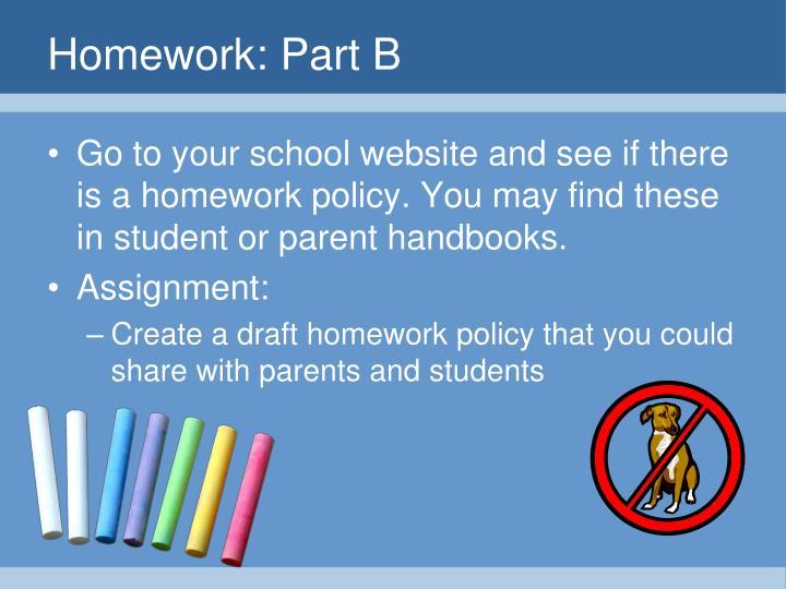 Homework: Part B