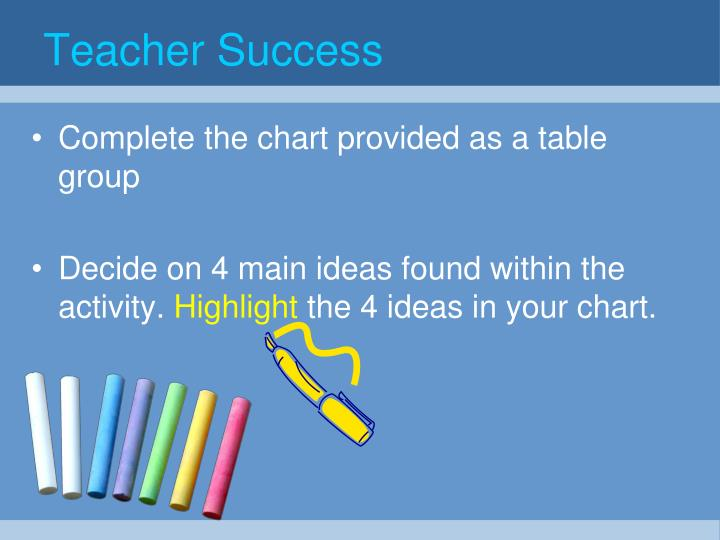 Teacher Success