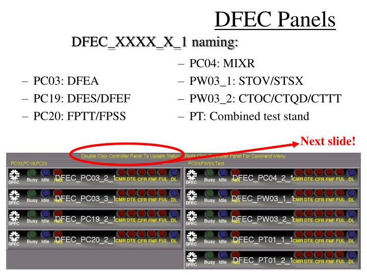 DFEC Panels