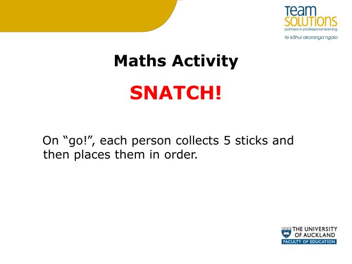 Maths Activity