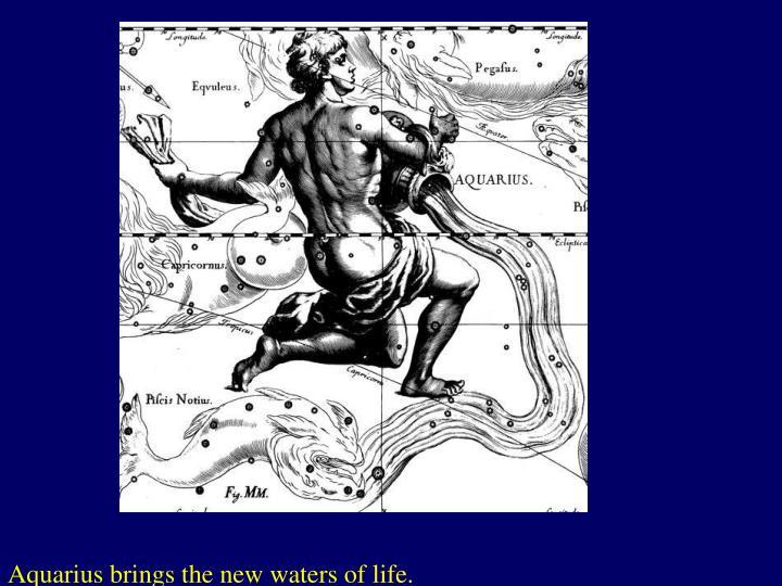 Aquarius brings the new waters of life.