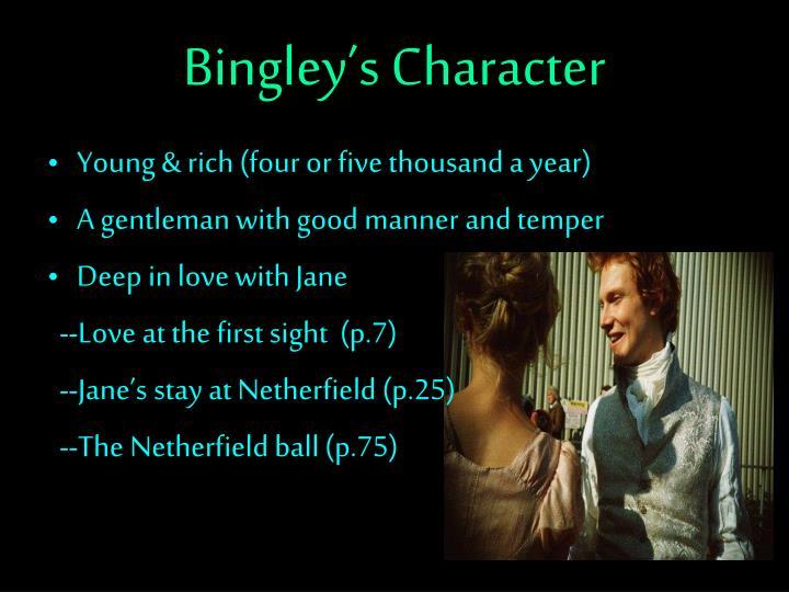 Bingley's Character
