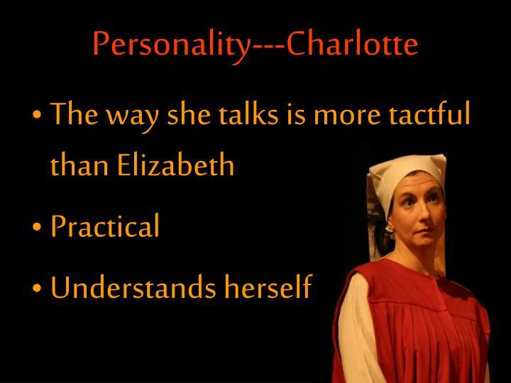 Personality---Charlotte