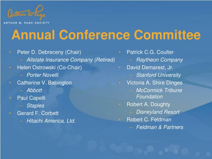 Annual conference committee