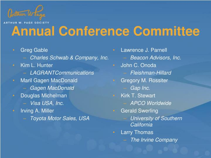 Annual conference committee1