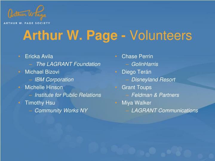 Arthur W. Page -