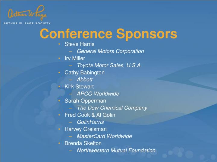 Conference Sponsors