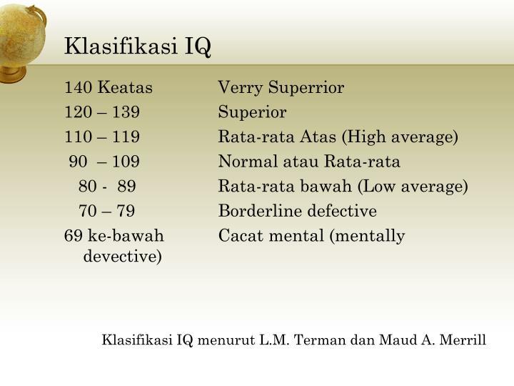 Klasifikasi IQ