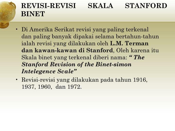 REVISI-REVISI SKALA STANFORD BINET
