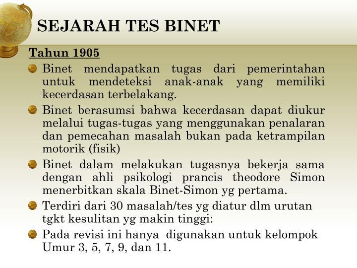 SEJARAH TES BINET