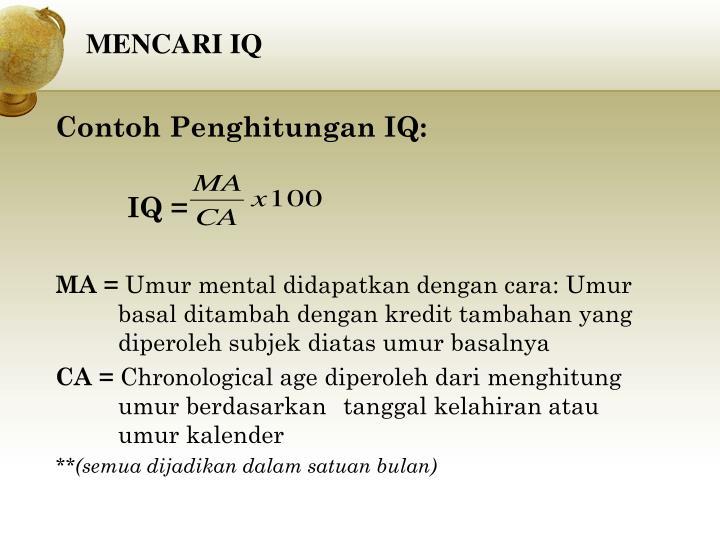 MENCARI IQ
