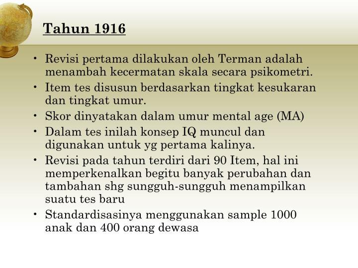 Tahun 1916