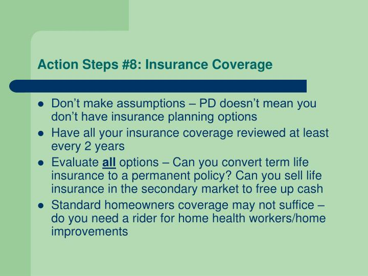 Action Steps #8: Insurance Coverage