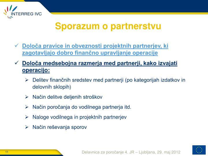 Sporazum o partnerstvu