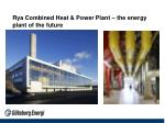 rya combined heat power plant the energy plant of the future