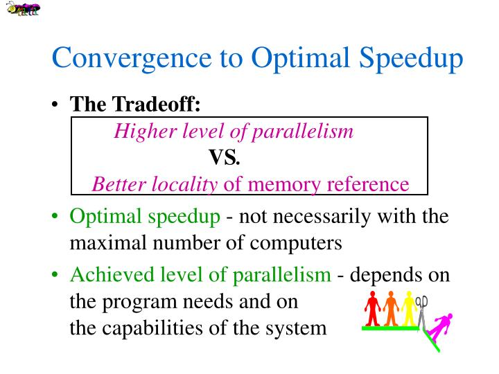 Convergence to Optimal Speedup