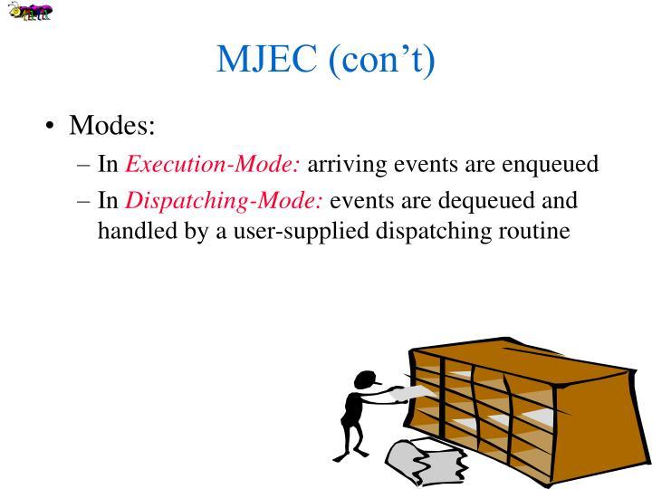 MJEC (con't)