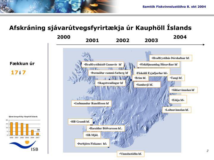 Afskráning sjávarútvegsfyrirtækja úr Kauphöll Íslands