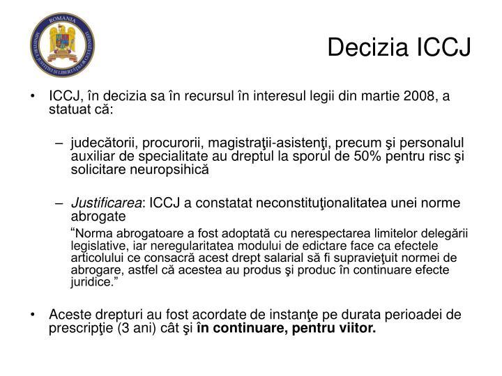 Decizia ICCJ