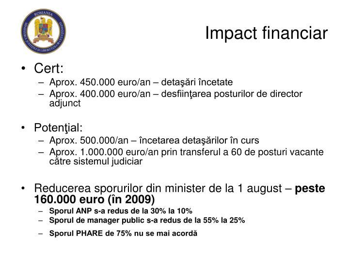 Impact financiar