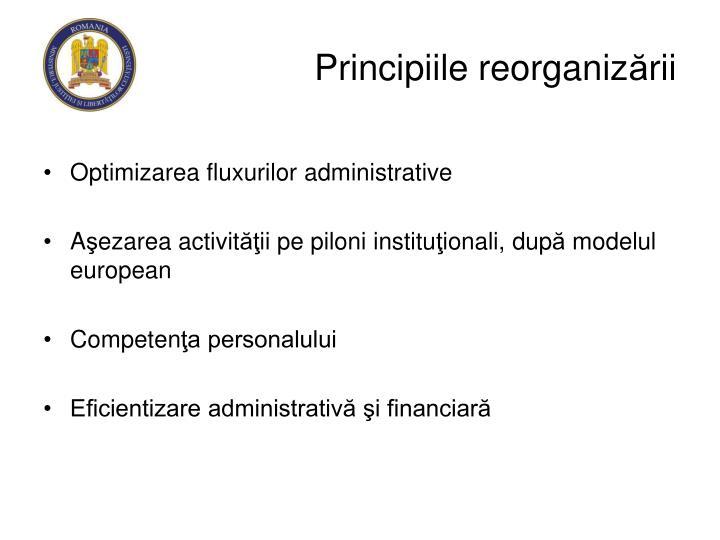 Principiile reorganiz