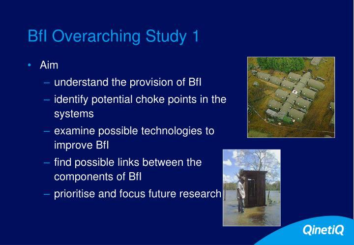 BfI Overarching Study 1